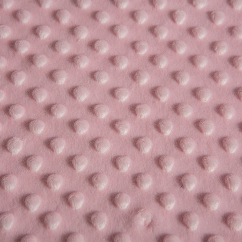 100% Polyester Warp Knit Plush Minky Blankets Fabric for Baby Using