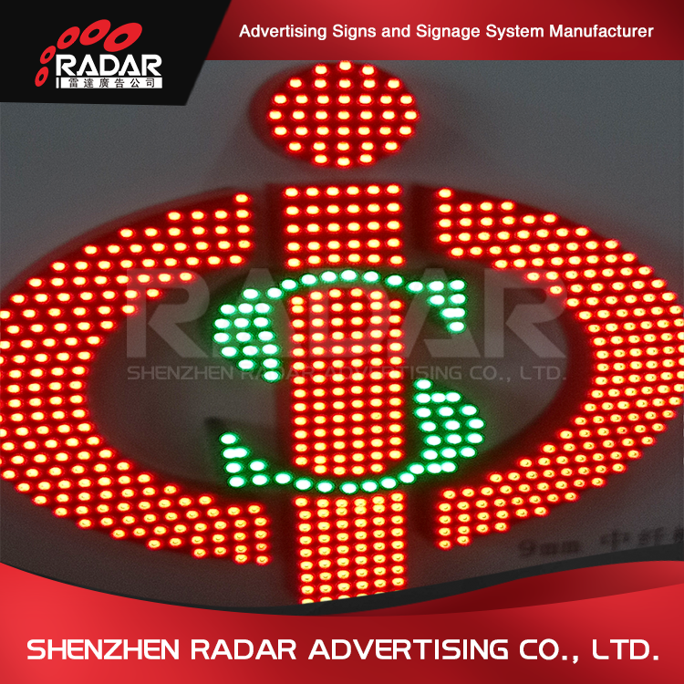 LED Lamp Beads Exposed Surface Lit 3D Sign Channel Letter
