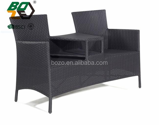 Sedie Francesi Da Giardino : Francese bistro sedie grigio rattan patio set da giardino