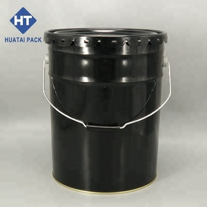 customize 5 gallon bucket metal tin bucket 20 liter paint pail 20 liter solvent keg with handle and lug lid
