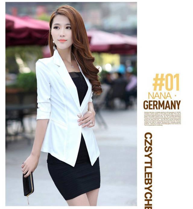 Мода женская костюме конфеты цвет пальто три четверти 8805 с . з .