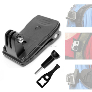 Kaliou Camera Accessories Waterproof clip 360 Rotatable Clip Mount Belt Knapsack Backpack Clamp For Gopros Hero3+/3/2/1
