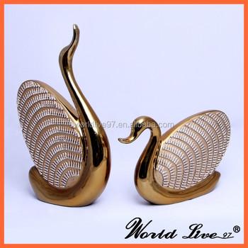 Good Modern Home Decor Items : Gold Ceramic Swan Design China Home Decor  Wholesale