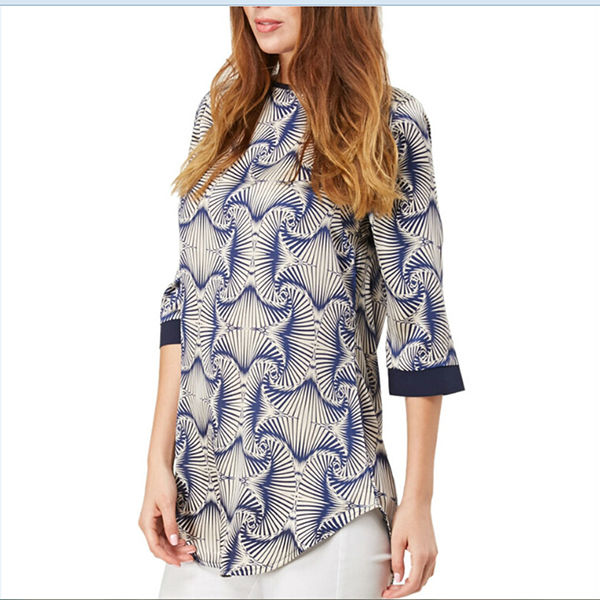 OEM custom factory wholesale chiffon printed blouse chinese clothing factory outlet