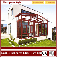 Latest European Stlye 2.0 Aluminium Glass Sunroom