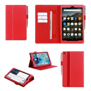 2018 New Arrival With Pen Holder Wallet Tablet Case For Kindle Fire HD 8