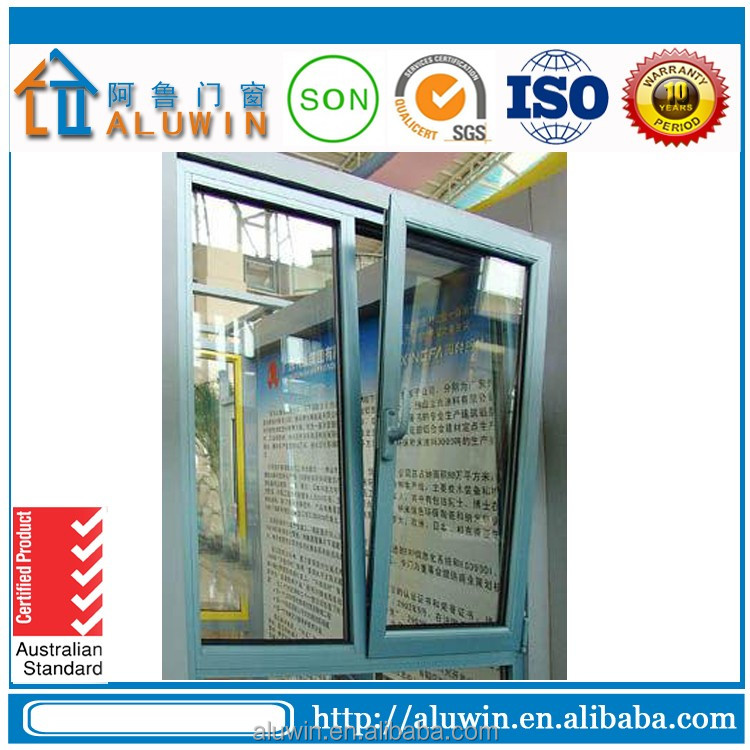 wooden color aluminium turn and tilt windows with 8 years experience