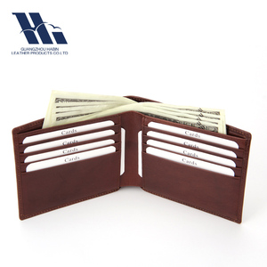 high quality smooth leather blocking rfid slim men wallet
