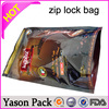 Yason noni bags with zipper and standing stand up resealable aluminum foil mylar ziplock bags black foil three side seal bags w