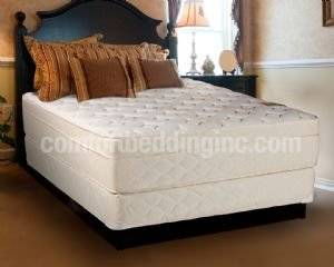 Comfort Bedding Dream Solutions USA Beverly Hills Foam Encased Firm Mattress and Box Spring Set, Queen Size
