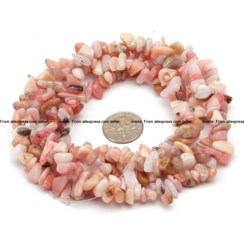 "opal: 7-8mm pink opal chips beads natural opal beads DIY loose beads for bracelet making strands 34"" free shipping"