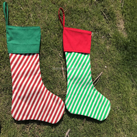 DEMIZXX743 Wholesale Burlap Material Colorful Sock Shape Holiday Decorations Western Fashion Style Christmas Stocking