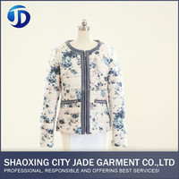 Latest Fashion Designs Outdoor Print Jacket Women Coat