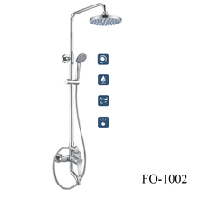 Traditional floor stand hot/cold water mixer single handle shower set