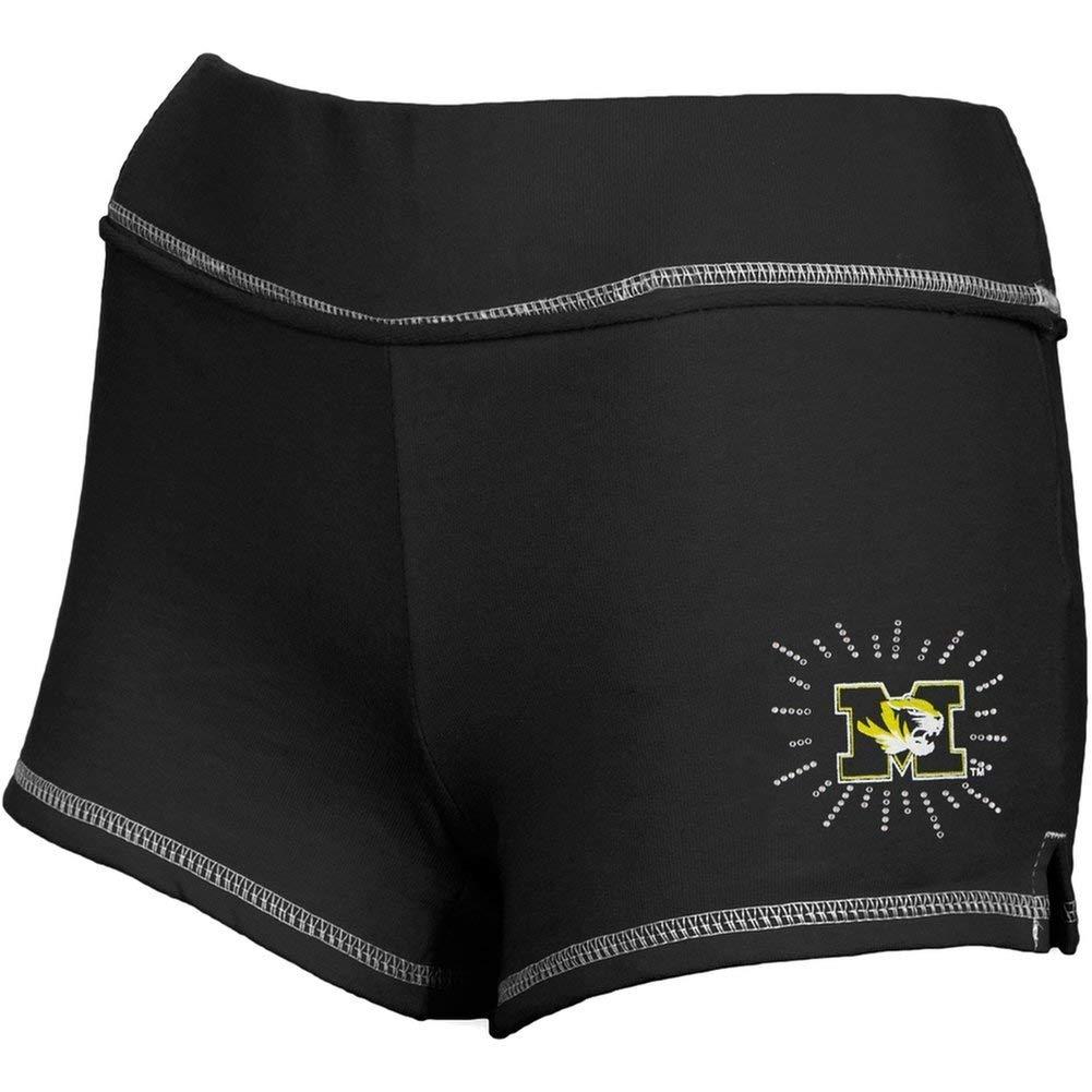 d40cb24e54 Get Quotations · Missouri Tigers - Rhinestone Ray Team Girls Youth Shorts  Black