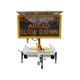VMS Trailer With Led Traffic Road Sign Mobile Trailer LED Sign