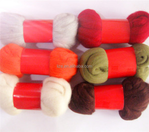 Manufacturer wholesale 100% roving dyed wool
