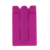2019 factory wholesales mixture color flexible silicone mobile phone card holder