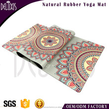 Folding gymnastics custom printed microfiber fabric rubber mat yoga in rolls