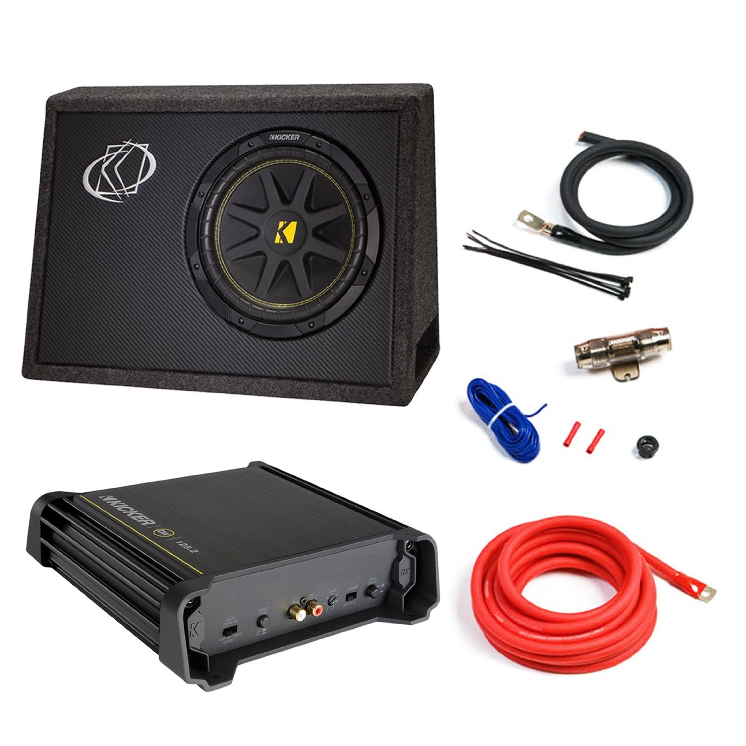 Cheap Subwoofer Installation Price Find Kit Car Speaker Wire Amplifier Connection Plug Get Quotations And Amp Combo Kicker 10tc104 Comp 10 300w Audio Bundle With