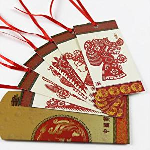 Paper-cutting Bookmarks- 6 Pieces- Peking Opera Faces Theme