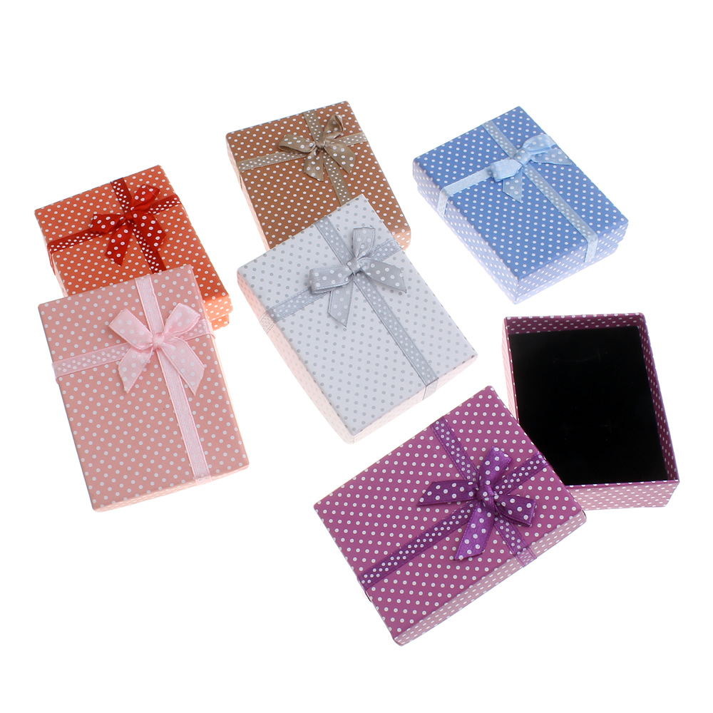 Hot 6 Colored Tiny Paper Case Box Spot Bow Knot Lovely Gift Boxes Jewelry Necklace Set Cheap Wedding Necklace Packaging Box Buy Tiny Paper Case
