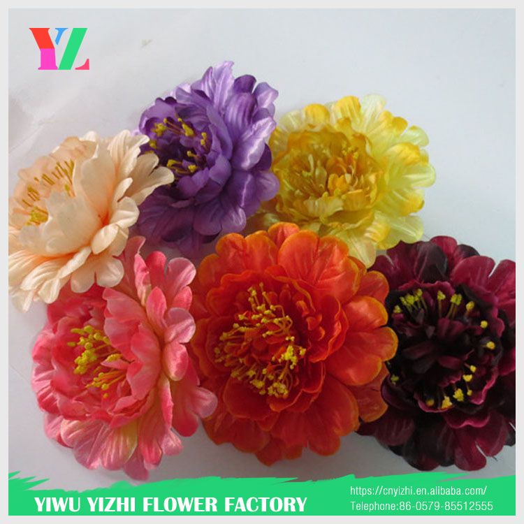 artificial flowers wall silk peony flowers wholesale hand work flower heads