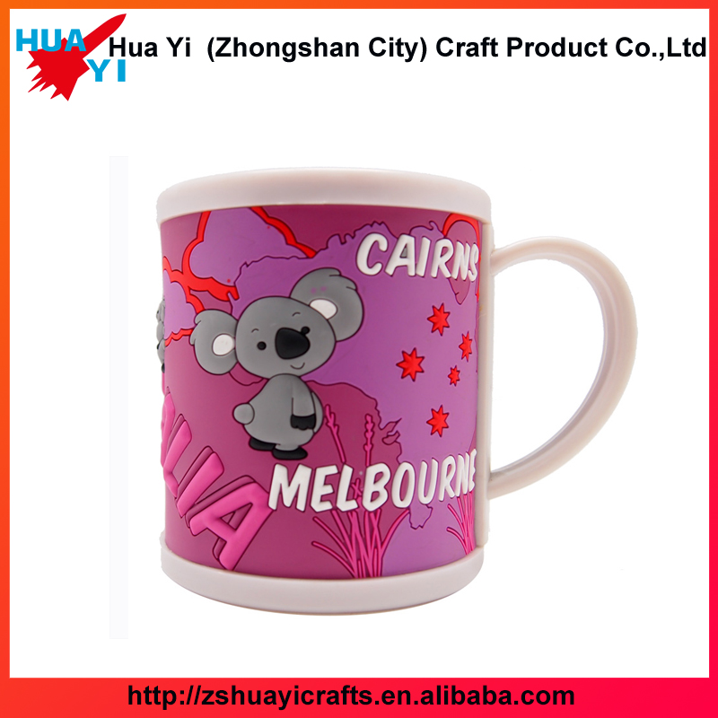 Wholesales Custom Soft Fashional Custom PVC mug ,With 3D Embossed logo ,Promitional Gift- HuaYi Crafts Factory