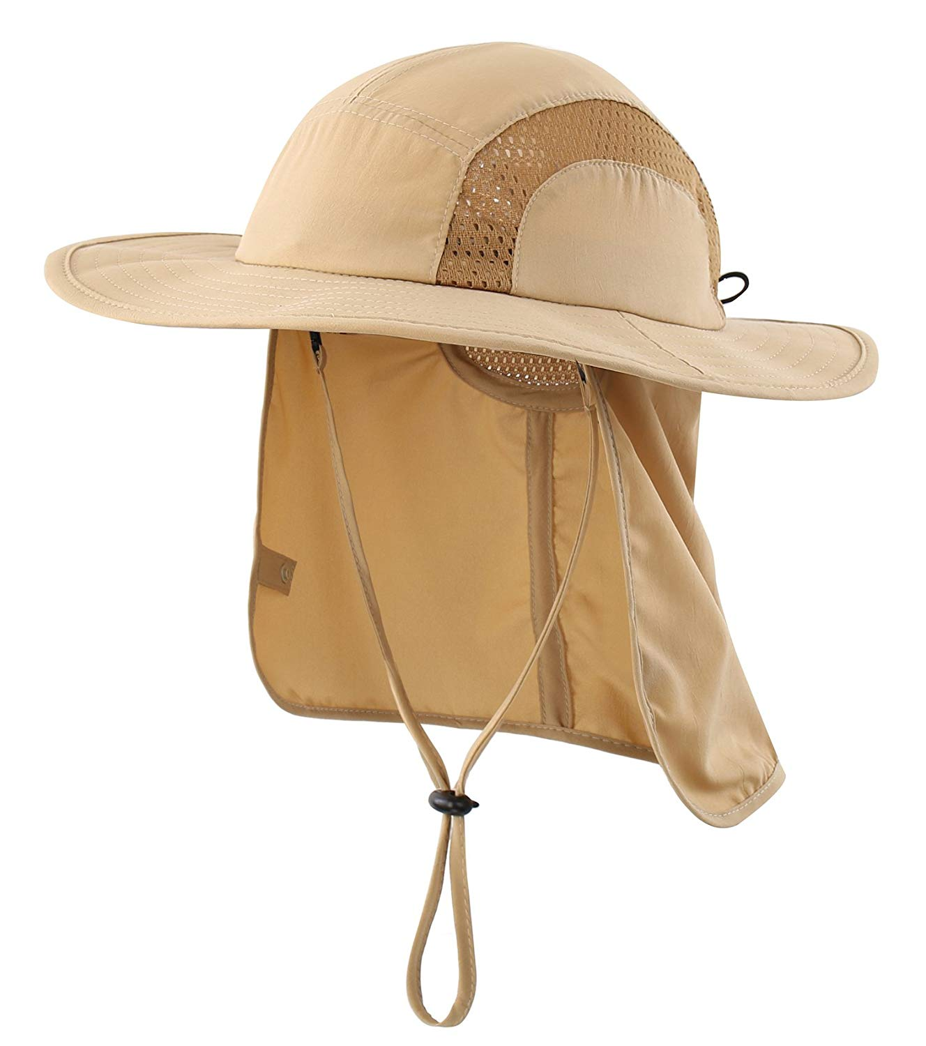 f633f3a8e6666 Get Quotations · Home Prefer Kids Safari Hat UPF 50+ Sun Protective Cap Boys  Bucket Hat With Flap
