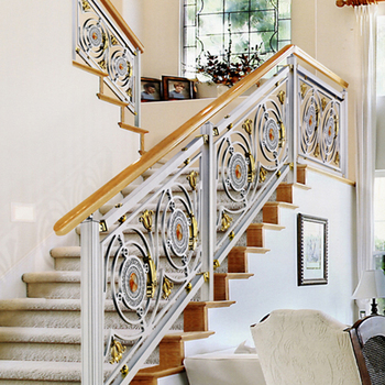 Antique Indoor Stair Baer Made Of Aluminum And Hand Railing Parts