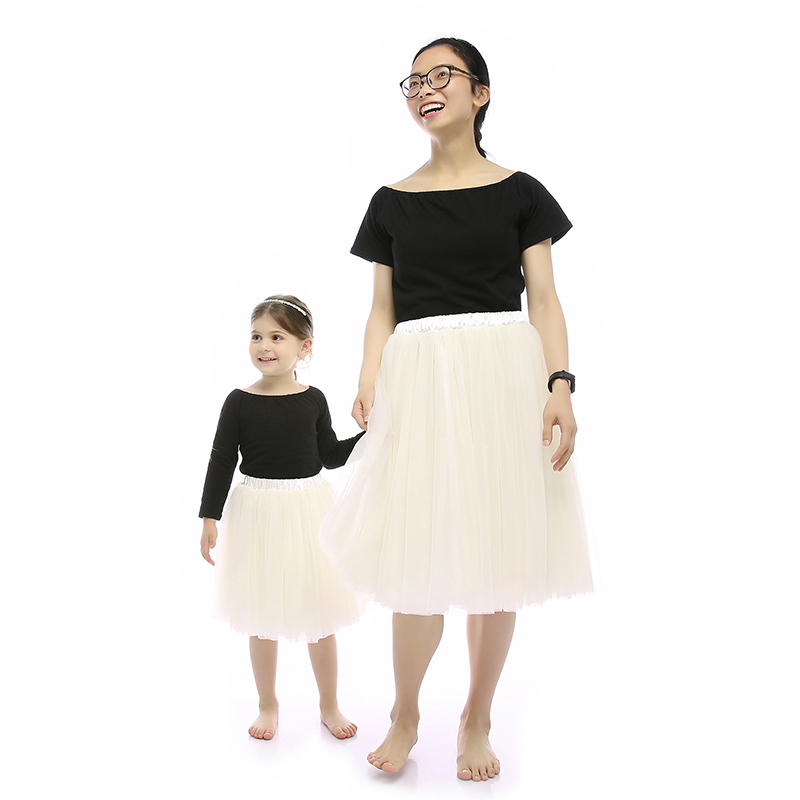 Simple mommy and me wholesale clothing family mom and daughter matching dresses