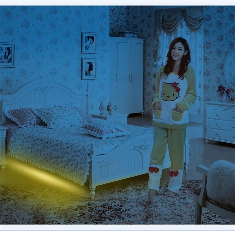 2x5ft Led Strips Dual Motion Sensor Under Bed Light For Bedroom ...