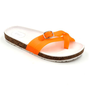 RMC Cork Outsole Cross Jelly PVC Vamp Woman shoes