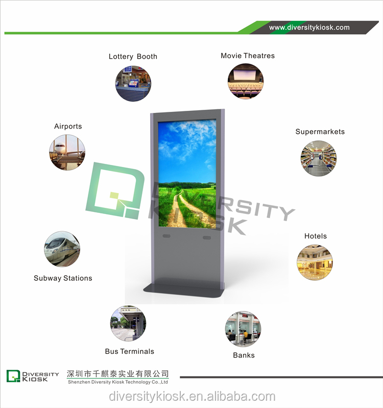 kiosk wifi/3g instagram boft wechat photo booth kiosk oem