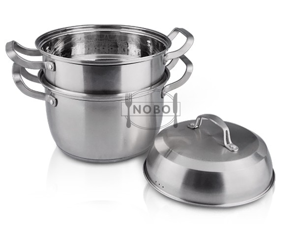 NOBO production stainless steel gas food steamer/industrial food steamer with capsule bottom