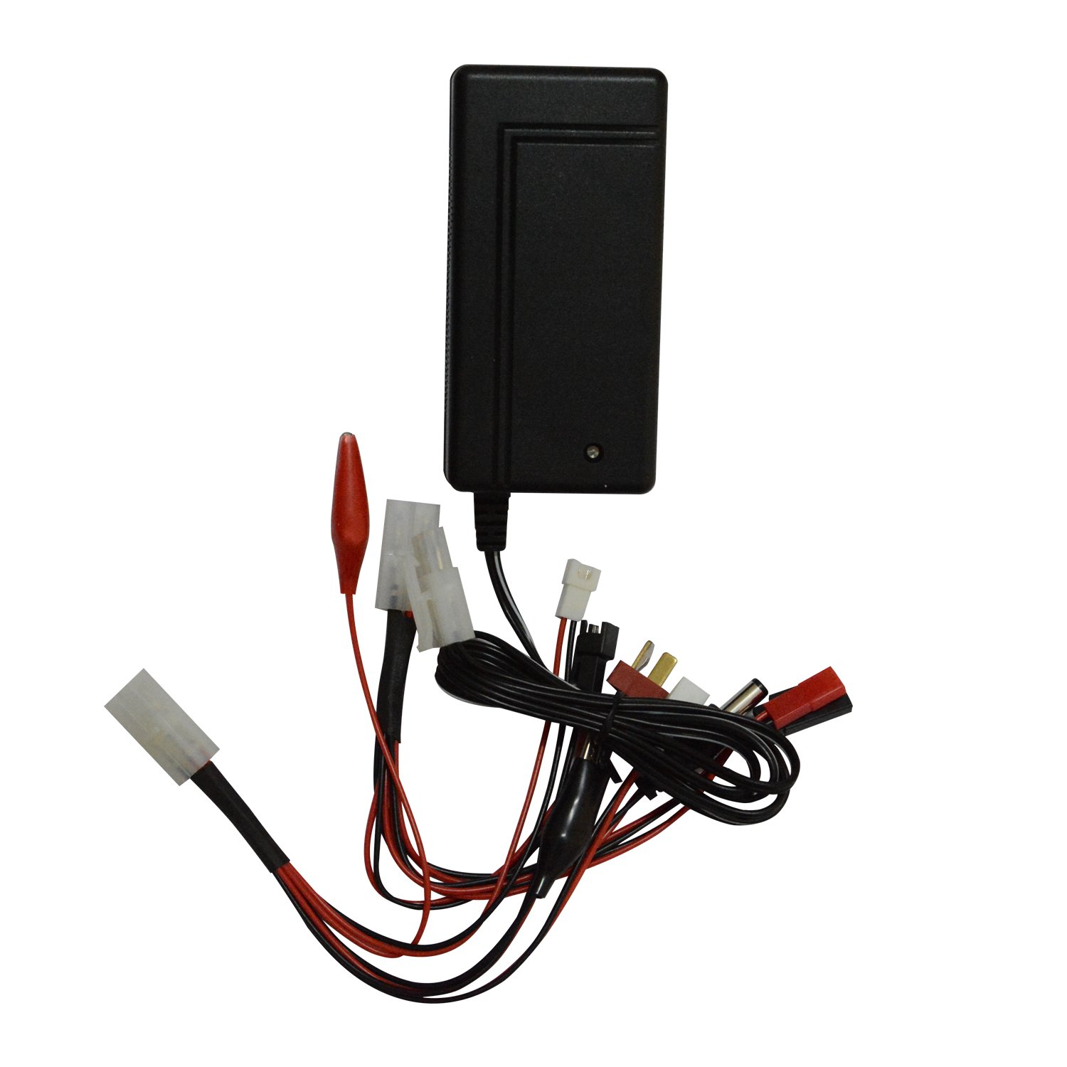 szwisechip 800 mA Nimh, Nicd Batteries, 3~8 cells (3.6V, 4.8V, 6V, 7.2V, 8.4V, 9.6v) Pack fast Charger for Toy RC (Radio-controlled) Model Cars, Hobby, Boats and Aircraft, Leads in pack