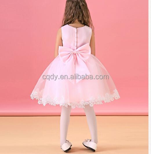 308ab05624a0 Honey Cute Cheap Prom Dress Children Garments Pink Lace Wedding Dress 3-5  year old