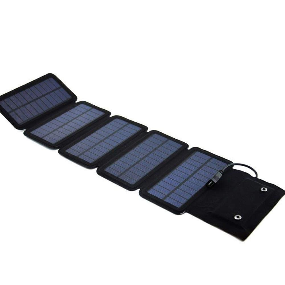 Longshow Power Solar Charger 7.5W Solar Panel with Waterproof Foldable for Tablet, mobile phone, portable game console, 5V digital camera, mobile power, MP3/4/5, etc.and Camping Travel