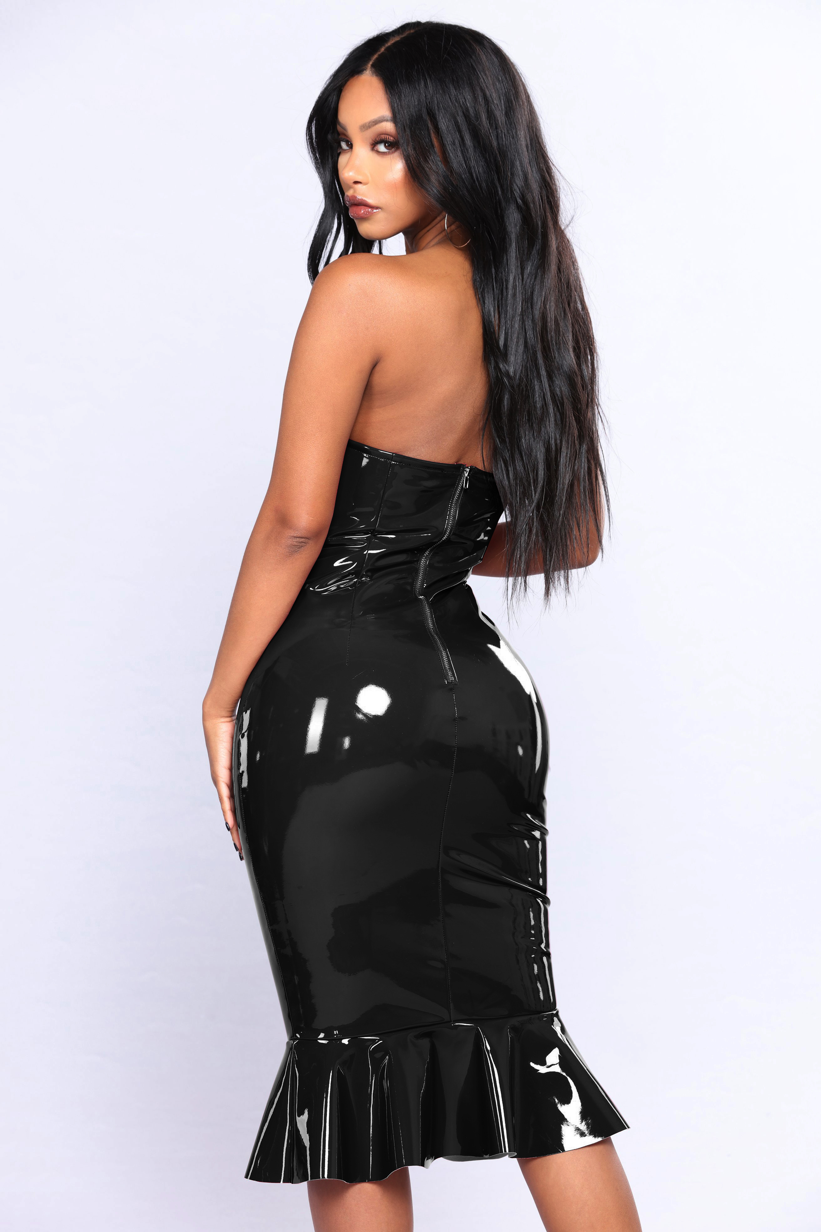 big size rubber pvc evening dresses 2018  long leather pvc dresses women lady elegant  6xl