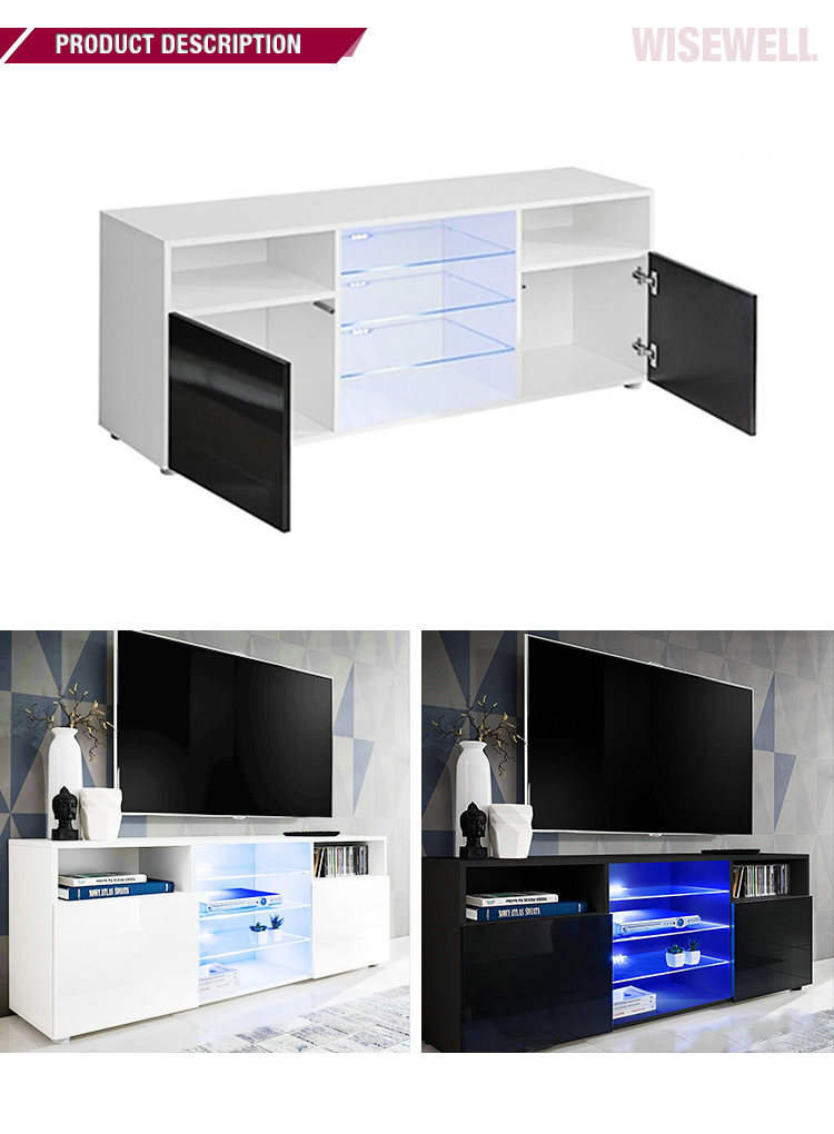 modern living room white high glossy furniture with led light