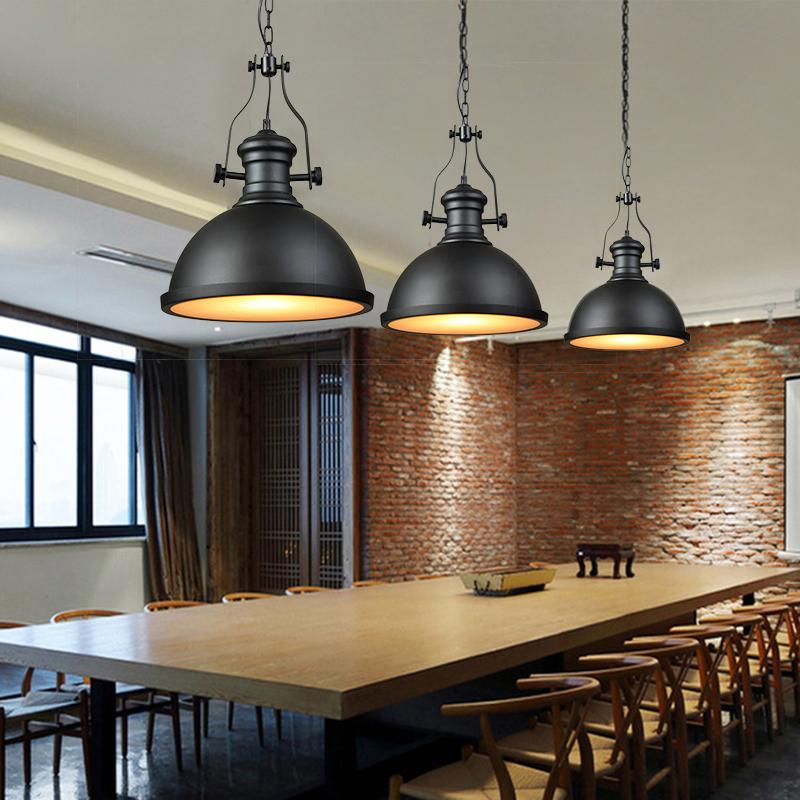 Nordic Industrial loft lámpara colgante Vintage Steam Punk Retro Hierro Sombra Lámpara de Luz Colgante de Bombilla de Edison