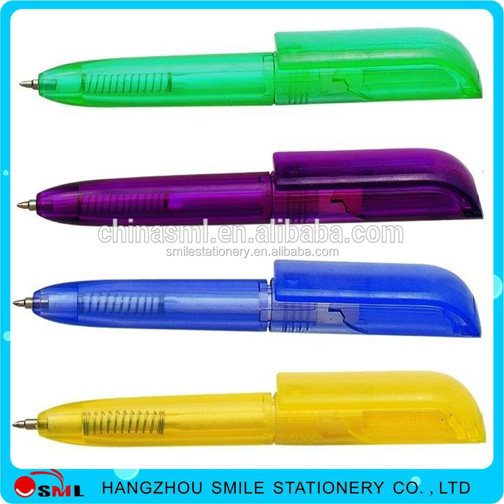 short mini style palstic ball pen for notebook pen