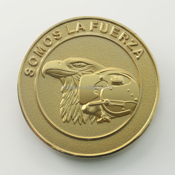 Promotional eagle raised gold plated coins ,embossed coins