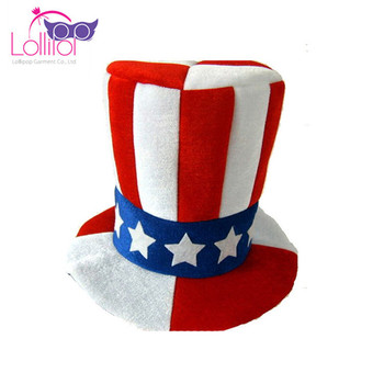 Carnival tall party foam hats comb plush carnival hat,crazy fancy dress top hat