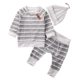 BKD 3Pcs set Baby Boy Clothing Manufacturer Long Sleeve Pants Hat Outfits Clothes
