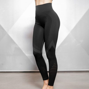 Women hollow sweat fitness workout seamless pants