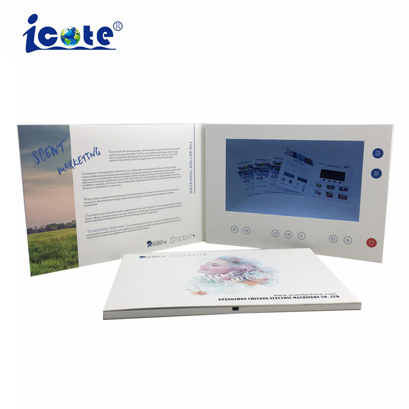 2 GB geheugen 10.1 inch TFT LCD A4 Graphics Video Brochure/Video Module