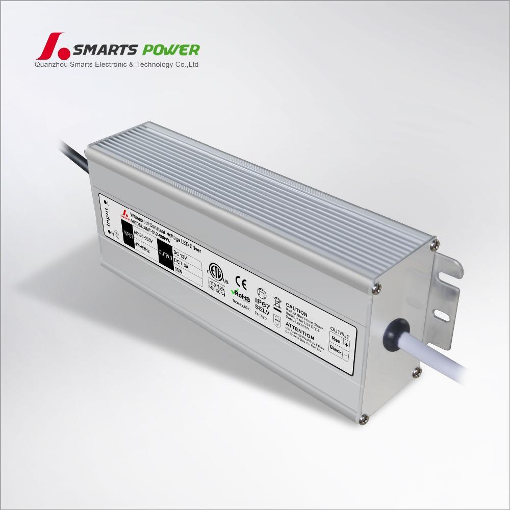input 110v 220v ac led driver 12v dc 90w electronic led transformer