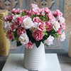 GNW FL-RS28-15-4 pink silicone flowers artificial import wedding rose flowers bouquet for weddings
