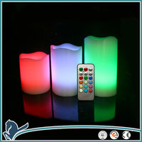 3 Piece A Set Pillar Multi-Color Safe LED Candle,Christmas Led Candle